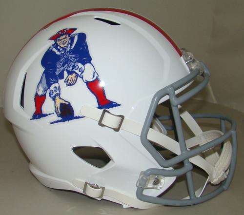 New England Patriots 1965 to 1981 Throwback SPEED Riddell Full Size Replica Football Helmet