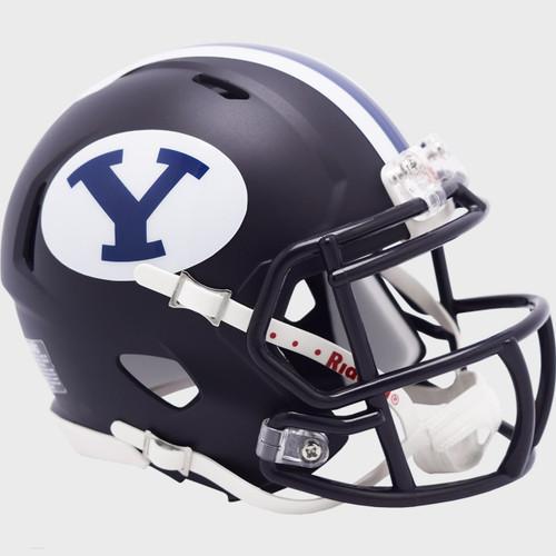 BYU Brigham Young Cougars Alternate Navy Blue Revolution Speed Mini Football Helmet