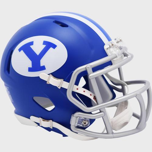BYU Brigham Young Cougars Alternate Royal Blue Revolution Speed Mini Football Helmet