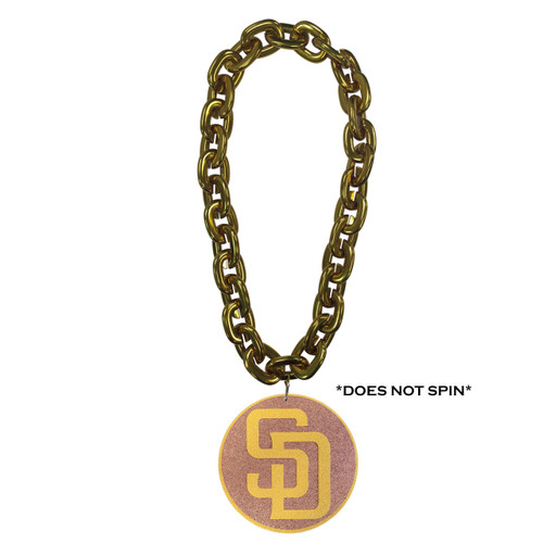 San Diego Padres FanChain Swag Gold Chain Replica Necklace