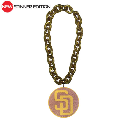 San Diego Padres Spinner Edition FanChain Swag Gold Chain Replica Necklace