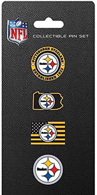 Pittsburgh Steelers NFL Team Pride Collectible Lapel Pin Set 4-Pack