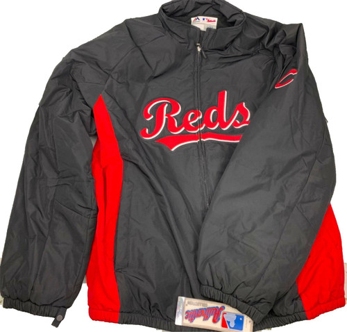 Men's Cincinnati Reds Majestic MLB Authentic On-Field Therma Base Thermal Full-Zip Jacket