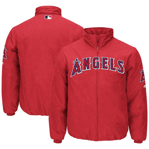 Los Angeles Angels Men's BIG & TALL MLB Authentic Majestic On-Field Therma Base Thermal Full-Zip Jacket