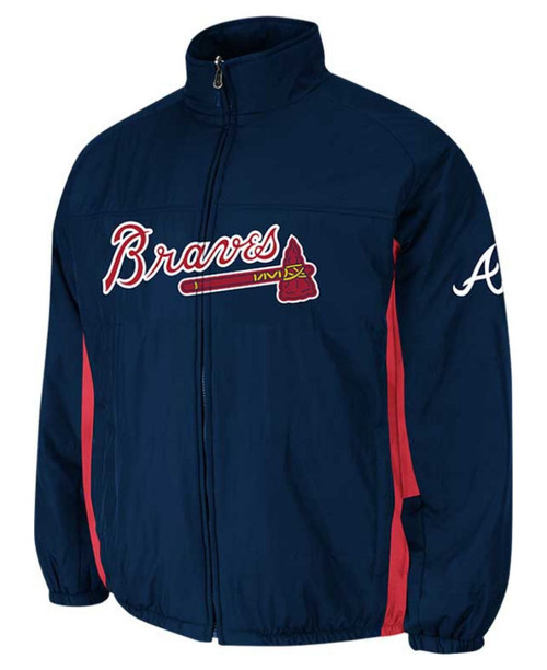 Atlanta Braves Men's BIG & TALL MLB Authentic Majestic On-Field Therma Base Thermal Full-Zip Jacket