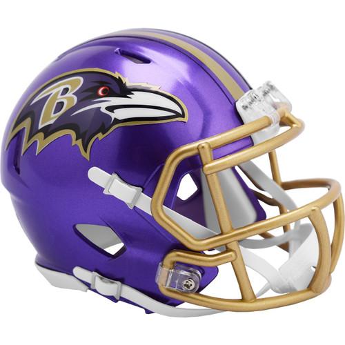 Baltimore Ravens Riddell Speed Mini Helmet - New Flash Alternate