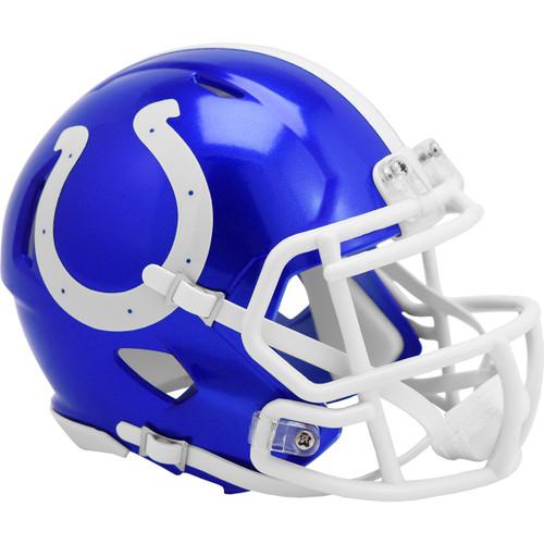 Indianapolis Colts Riddell Speed Mini Helmet - New Flash Alternate