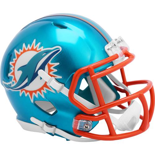 Miami Dolphins Riddell Speed Mini Helmet - New Flash Alternate