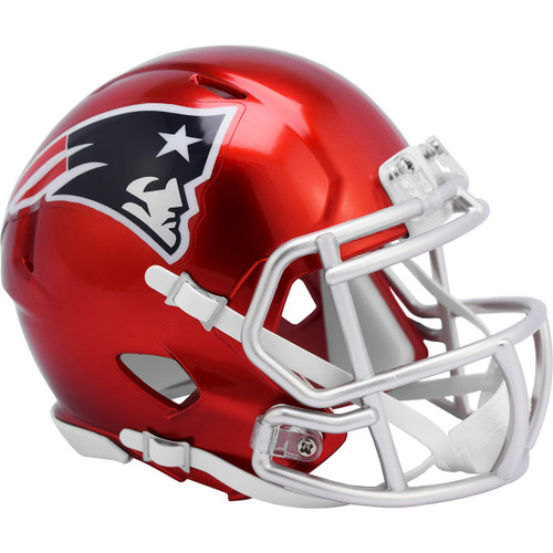 New England Patriots Riddell Speed Mini Helmet - New Flash Alternate