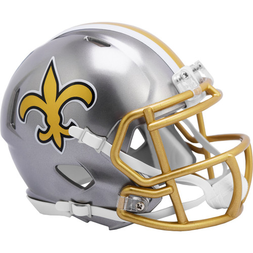 New Orleans Saints Riddell Speed Mini Helmet - New Flash Alternate