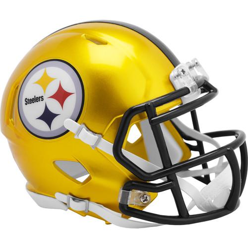 Pittsburgh Steelers Riddell Speed Mini Helmet - New Flash Alternate