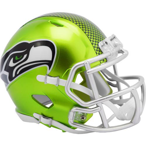 Seattle Seahawks Riddell Speed Mini Helmet - New Flash Alternate