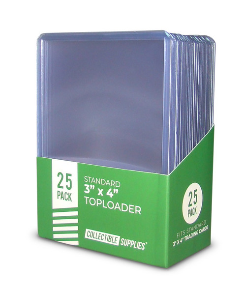 """Standard 3"""" x 4"""" Toploaders Collectible Supplies 35pt. 25 pack"""