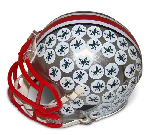 Ohio State Buckeyes Chrome Riddell Speed Mini Helmet - New Flash Alternate