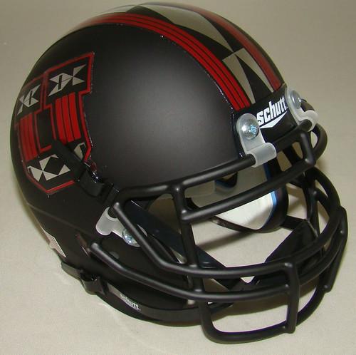 Utah Utes Alternate Pride Matte Black Schutt Mini Authentic Football Helmet