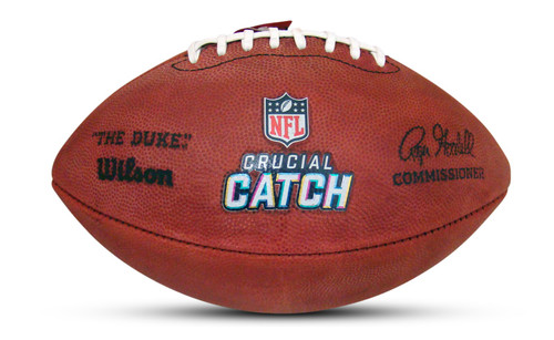 Official Authentic Leather NFL Crucial Catch Game Ball Football
