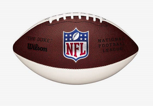 NFL New Logo Autograph White Panel Mini Game Football by Wilson