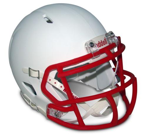 Matte White with Scarlet Red Mask Blank Riddell Revolution SPEED Mini Football Helmet