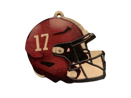 Alabama Crimson Tide Wood Football Helmet Christmas Tree Ornament