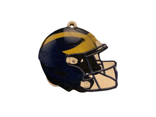 Michigan Wolverines Wood Football Helmet Christmas Tree Ornament