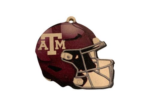 Texas A&M Aggies Wood Football Helmet Christmas Tree Ornament
