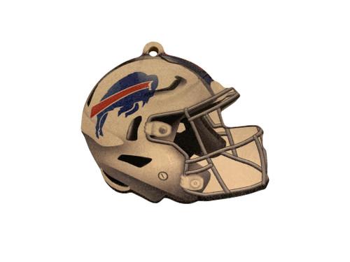 Buffalo Bills NFL Wood Football Helmet Christmas Tree Ornament