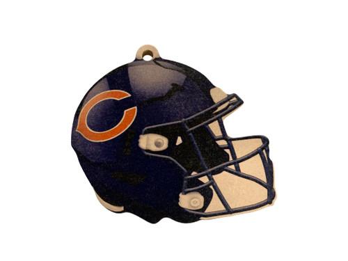 Chicago Bears NFL Wood Football Helmet Christmas Tree Ornament
