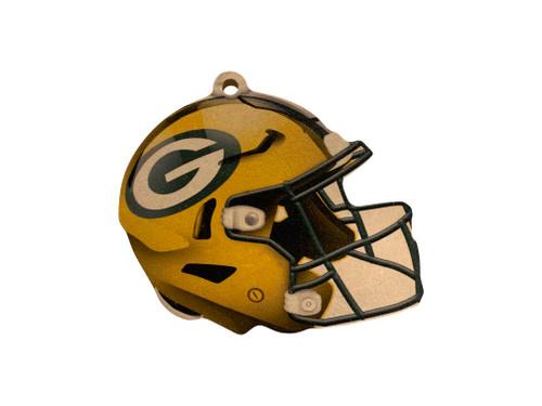 Green Bay Packers NFL Wood Football Helmet Christmas Tree Ornament