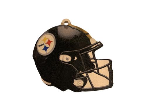 Pittsburgh Steelers NFL Wood Football Helmet Christmas Tree Ornament