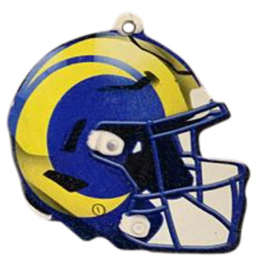 Los Angeles Rams NFL Wood Football Helmet Christmas Tree Ornament