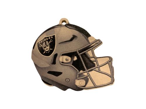 Las Vegas Raiders NFL Wood Football Helmet Christmas Tree Ornament