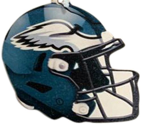 Philadelphia Eagles NFL Wood Football Helmet Christmas Tree Ornament