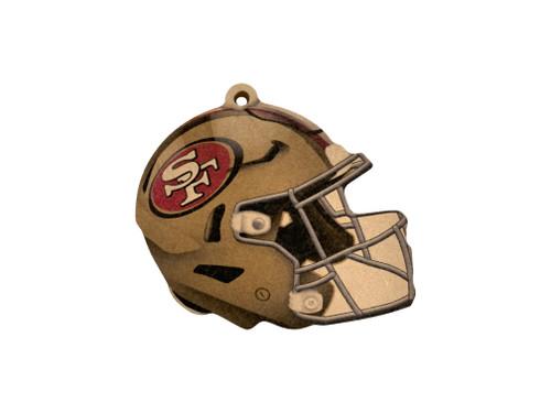 San Francisco 49ers NFL Wood Football Helmet Christmas Tree Ornament