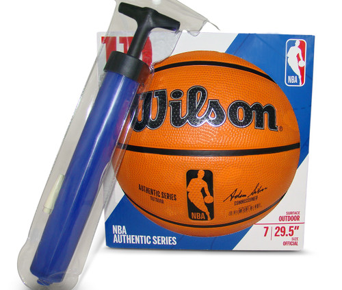 Wilson NBA Authentic Series Outdoor Basketball with Pump