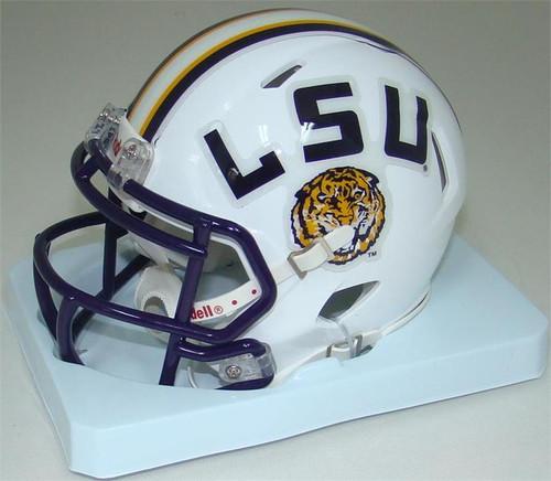 LSU Tigers Alternate White NCAA Revolution SPEED Mini Helmet