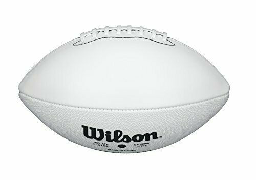 Wilson Official Size All White Panel TDS Autograph Football