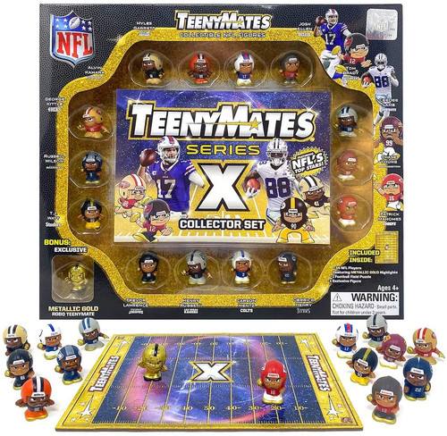 NFL Teenymates Player Figure 2021 Series X (10) Collector Gift Set