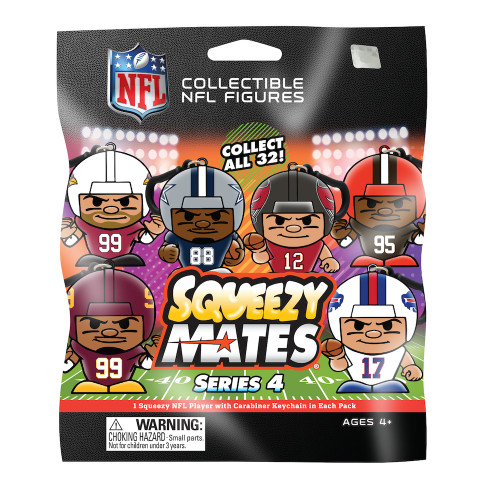 SqueezyMates NFL SERIES 4 Figurine Mystery Pack
