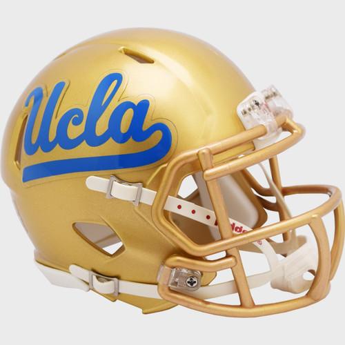 UCLA Bruins 2021 Gold Mask NCAA Riddell Speed Mini Football Helmet
