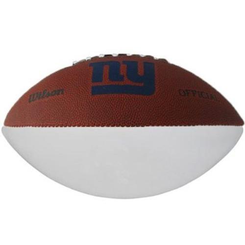 New York Giants Logo White Panel Autograph Full Size Wilson Football