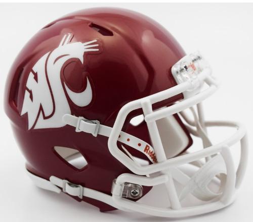 Washington State Cougars NCAA Riddell Speed Mini Helmet