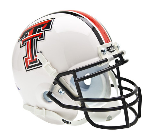 Texas Tech Red Raiders Alternate White Schutt Mini Authentic Helmet