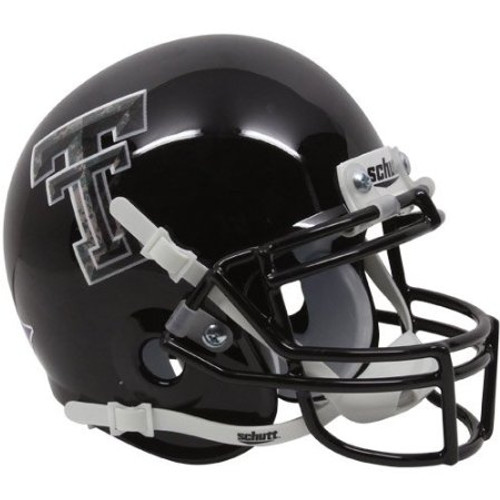 Texas Tech Red Raiders Alternate Black Camo Schutt Mini Authentic Helmet