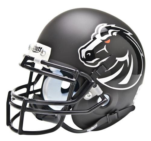 Boise State Broncos BLACK MATTE Schutt Mini Authentic Helmet