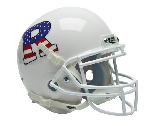 Rutgers Scarlet Knights White with USA Flag R Schutt Mini Authentic Helmet