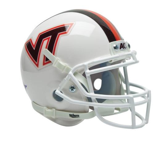 Virginia Tech Hokies ALTERNATE WHITE WITH STRIPE Schutt Mini Authentic Helmet