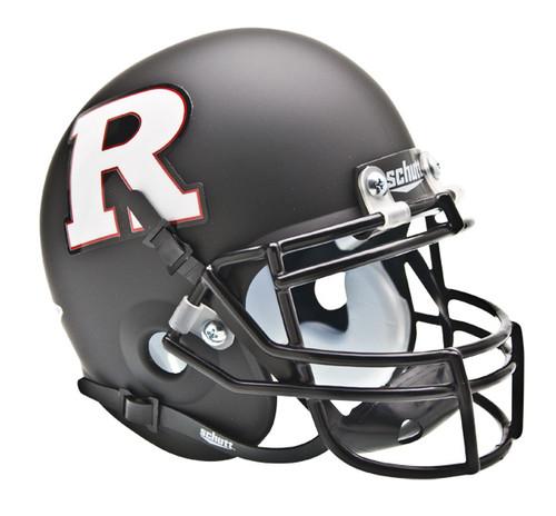 Rutgers Scarlet Knights Black Matte with White Logo Schutt Mini Authentic Helmet