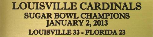 Louisville Cardinals 2013 Sugar Bowl Champions Mini Football Helmet Display Case