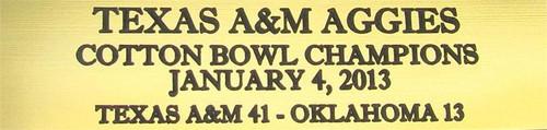 Texas A&M Aggies 2013 Cotton Bowl Champions Mini Football Helmet Display Case