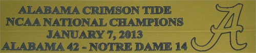 Alabama Crimson Tide 2013 BCS Bowl Nationals Champions Mini Football Helmet Display Case